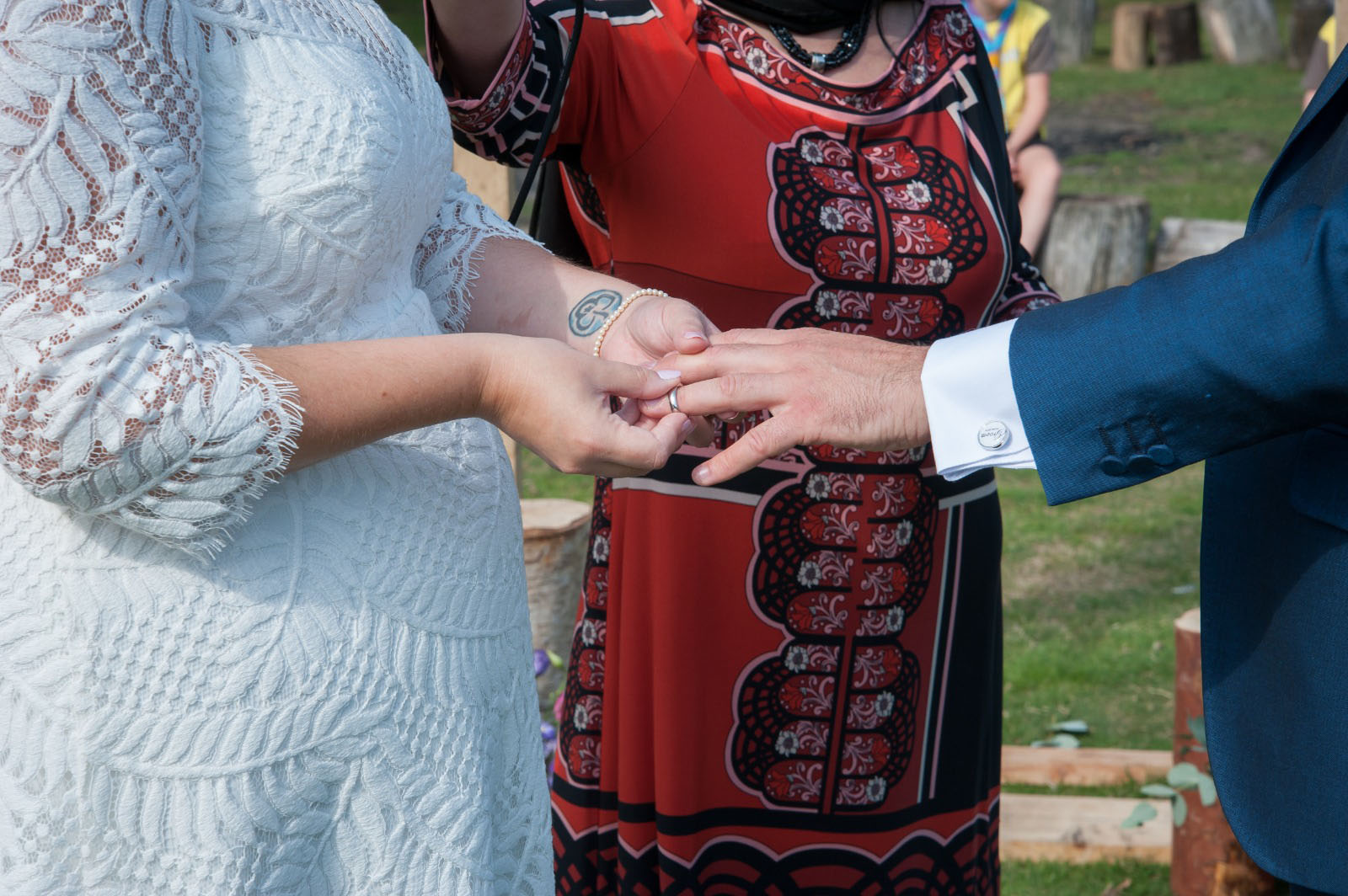 Celebrant officiating a multicultural wedding